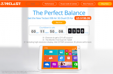 Teclast X98 Air 3G Dual Boot on Sale today only for $199