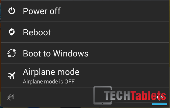 Here you can select to reboot into Windows from Android.