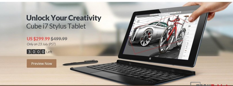 Cube i7 Stylus Sale Now Live. $299 Today Only