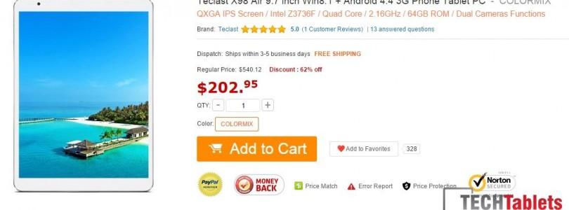 Daily Deals: Chuwi Vi10 $140 and Teclast X98 Air 3G 64GB drops to $202.95