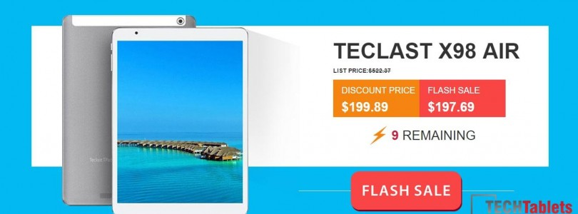 Daily Deals: Teclast X98 Air 3G 64GB $195 & Air II 64GB $193