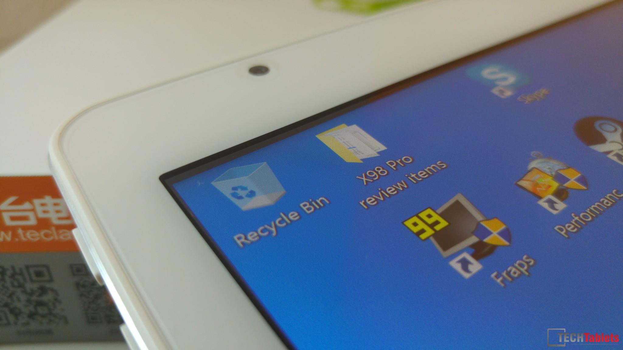 Teclast X98 Pro non-laminated screen