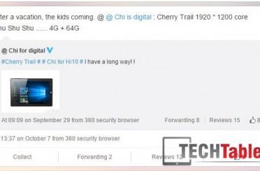 Chuwi Teases More Hi10 Info