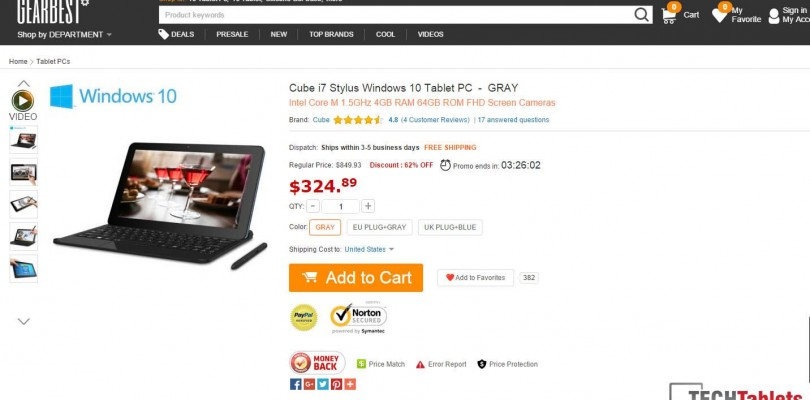 Daily Deals: Cube i7 Stylus Core M Windows 10 for $324.89