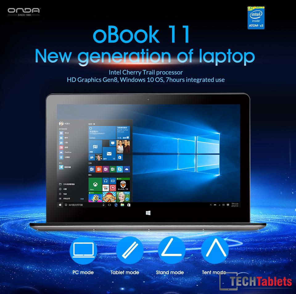 Onda oBook Cherry Trail Notebook 4