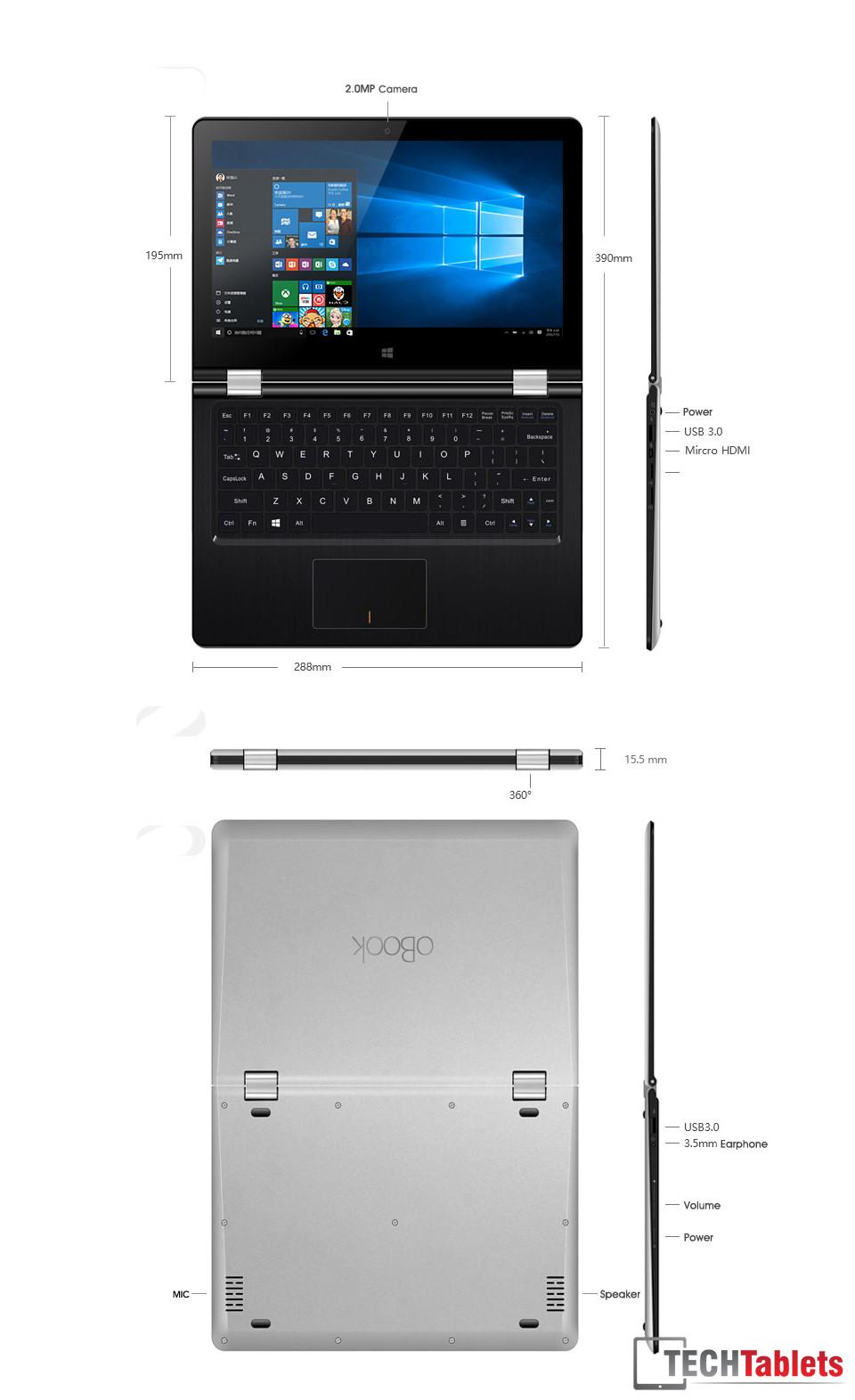 Onda oBook Cherry Trail Notebook 7