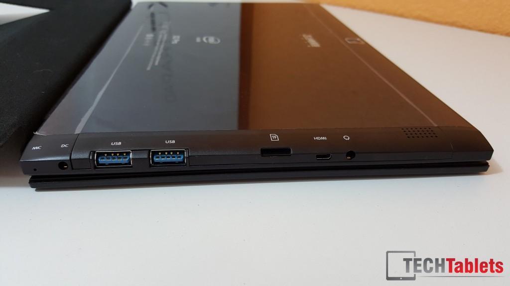The X2 Pro's ports.