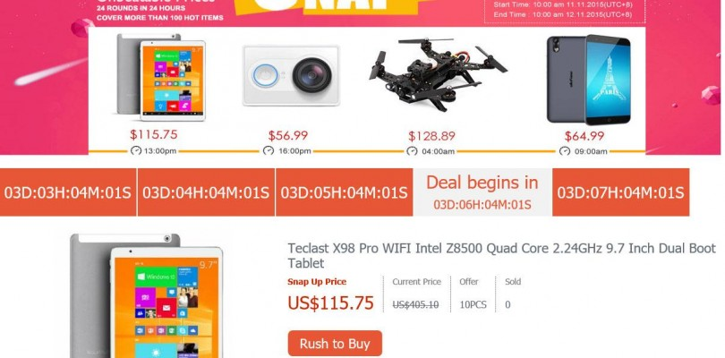 11.11 Teclast X98 Pro $115 Snap Up Sale