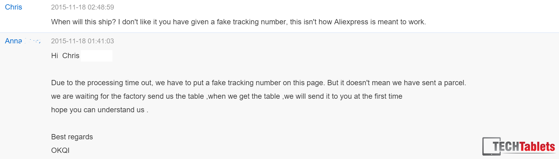 AliExpress Sellers - Fake Tracking Numbers And Lies