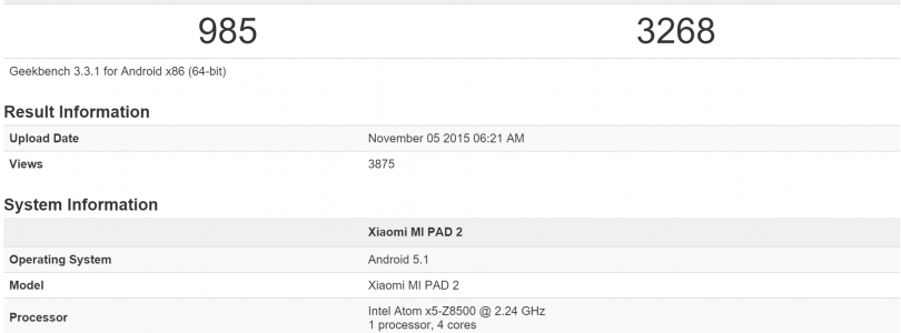 Xiaomi MI PAD 2 Might Just Be Real Afterall