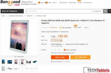 Teclast X98 Plus Atom X5 Z8300 Windows 10 Tablet Now Out