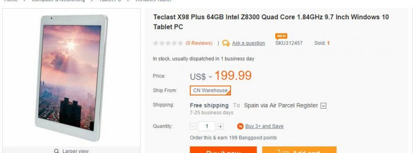 Teclast X98 Plus Atom X5 Z8300 Windows 10 Tablet Now Out