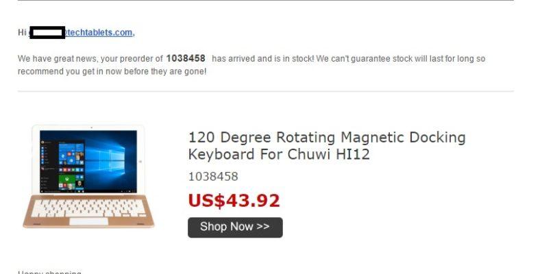 Chuwi Hi12 Keyboard Pictured?