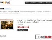 Chuwi Hi12 2160 x 1440p Atom X5 Tablet Now in Stock At BG