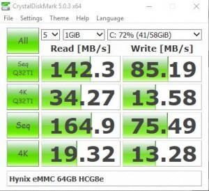 eMMC speeds