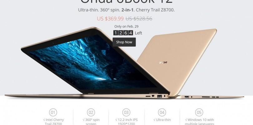 Onda oBook 12 MacBook Air 360 Clone Aliexpress Sale Today