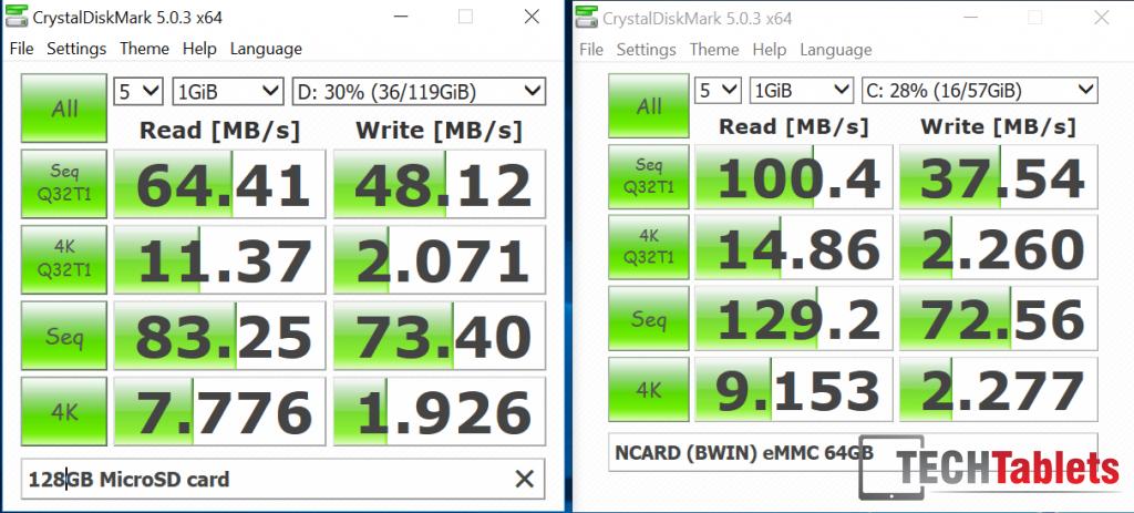 Storage speeds EZBook