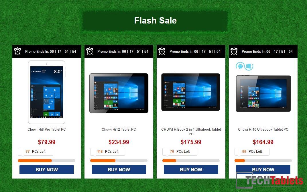 Chuwi flash sale July