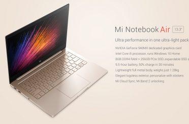 Xiaomi Mi Notebook Air 13.3″ Version Now Shipping