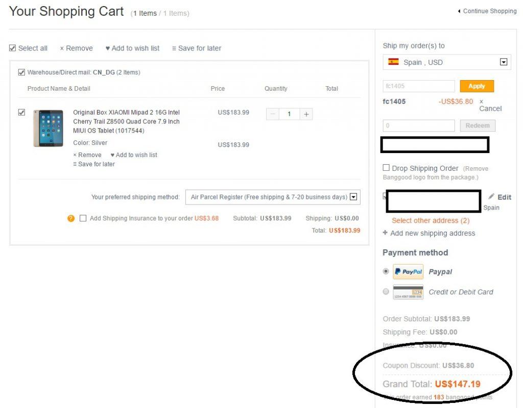Xiaomi Mi Pad 2 for just $147 wit hcoupon fc1405