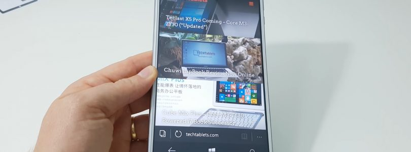 Hands-On With The Cube WP10 6.98″ Windows Phone