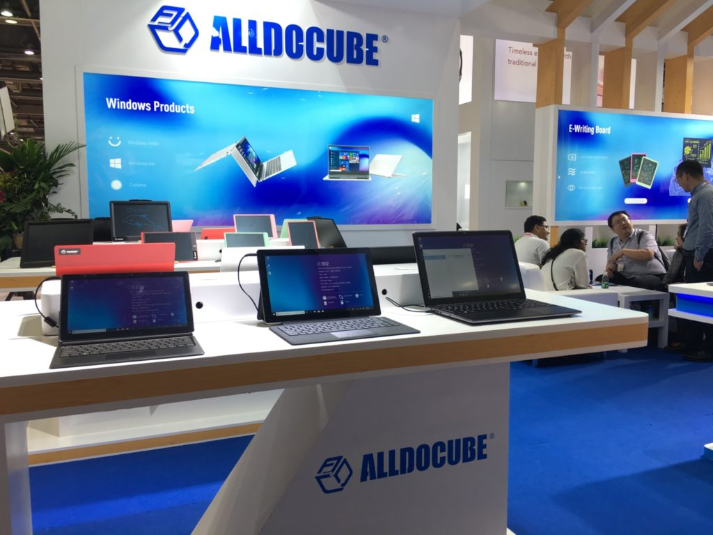 New 2019 Alldocube products shown in Hong Kong.